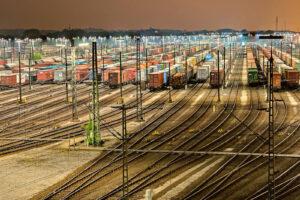 Foto zeigt Eisenbahn Umschlagsplatz
