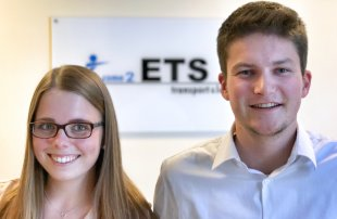 Our new trainees Stina-Sophie Behrens and Pascal Dopmann