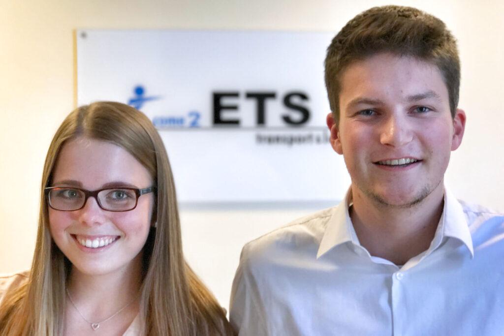 Unsere neuen Auszubildenden Stina-Sophie Behrens und Pascal Dopmann