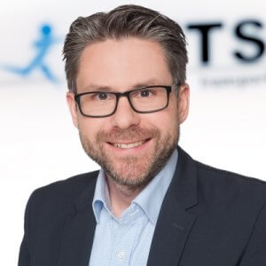 Photo shows Florian Lampe Manager ETS Transport & Logistics GmbH Bremen
