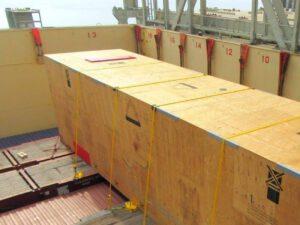 Bild zeigt Kiste auf Containerschiff