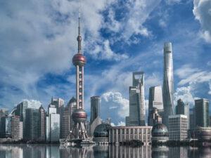 Bild zeigt die Skyline von Shanghai